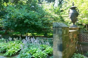 Old Wall, Decorative Urn & Plantings