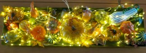 Eight Gleaming Glass Gourds