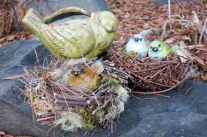 Four Nesting Birds